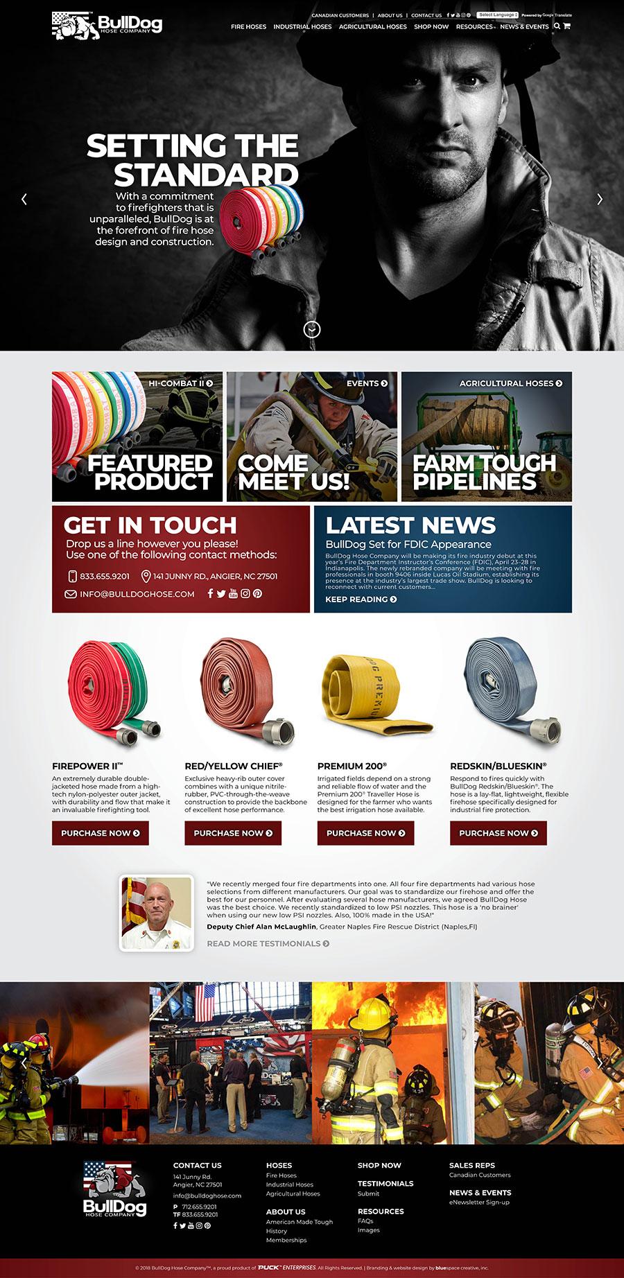 Custom Website for Hose Manufacturer