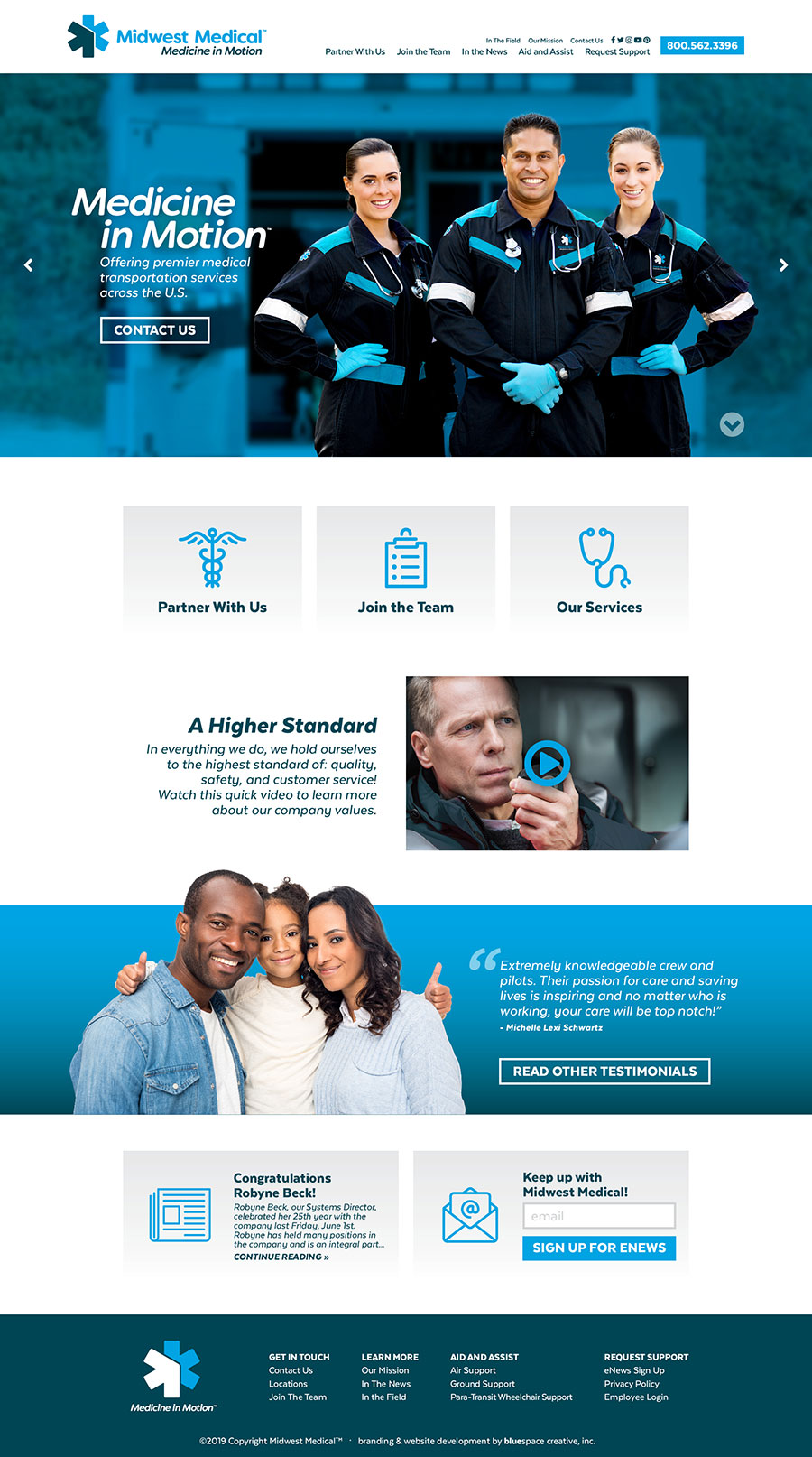 Midwest Medical homepage design