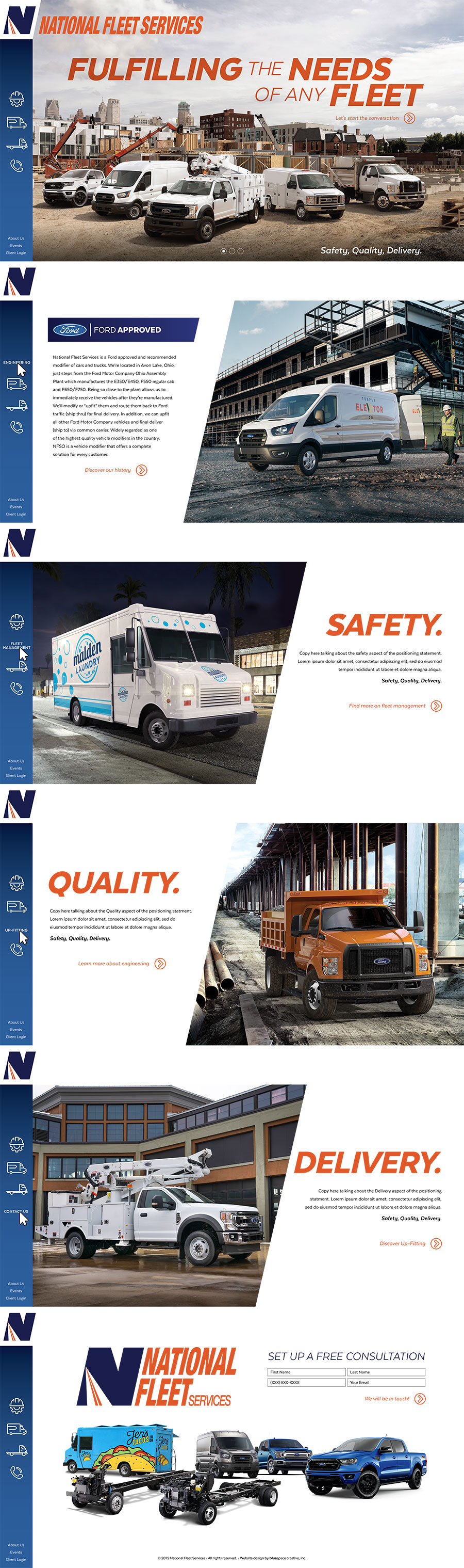 National Fleet Service Website Design