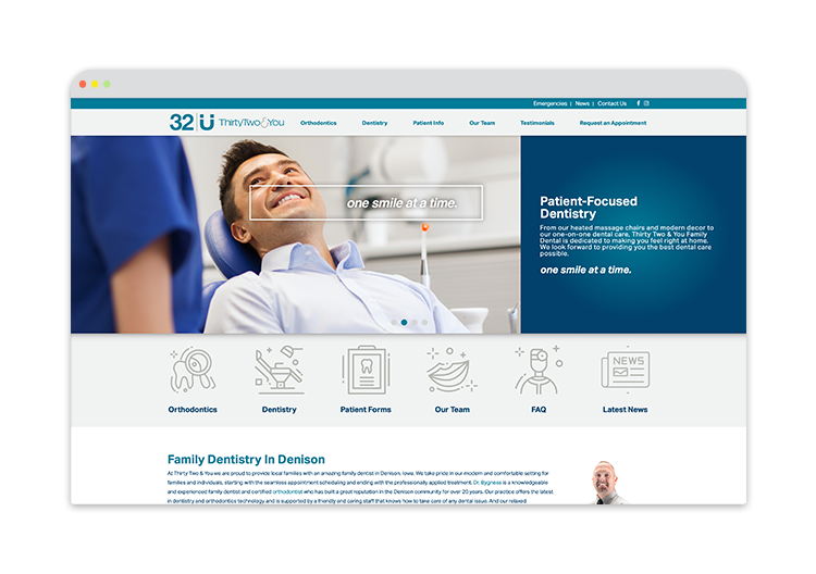 Custom Website for Dental Office