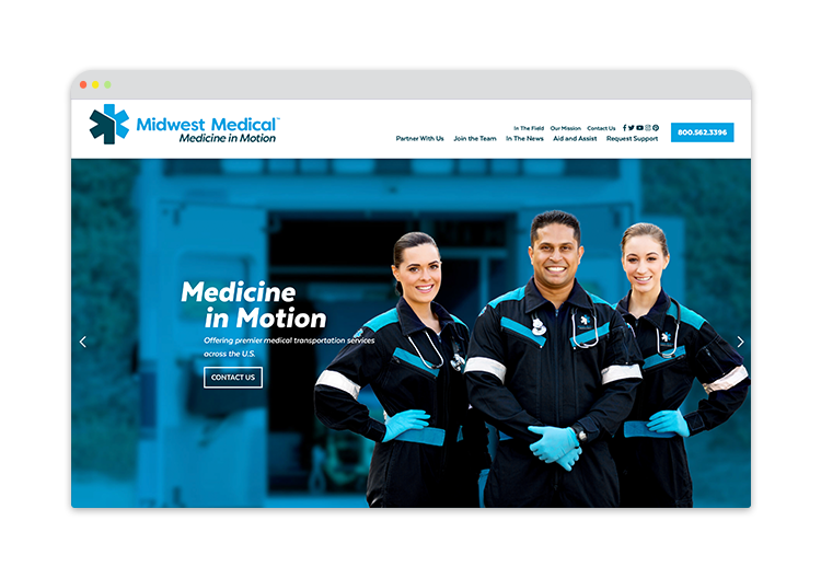 Custom Website for Ambulance Services