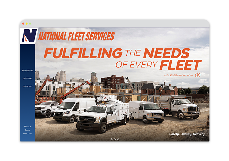 Custom Website for Fleet Management services
