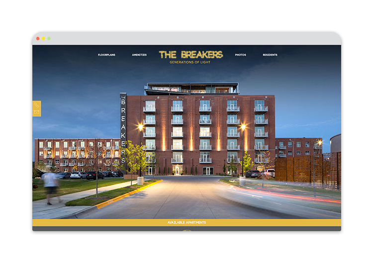 Custom Website for Apartment condo in omaha