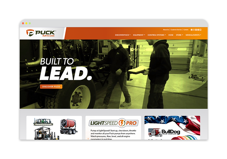 Custom Website for Ag Manufacturing Company