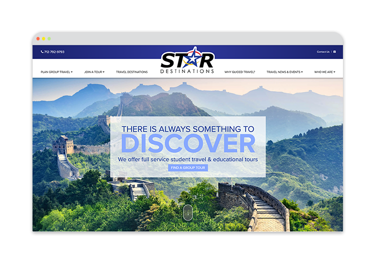 Custom Website for Travel Provider
