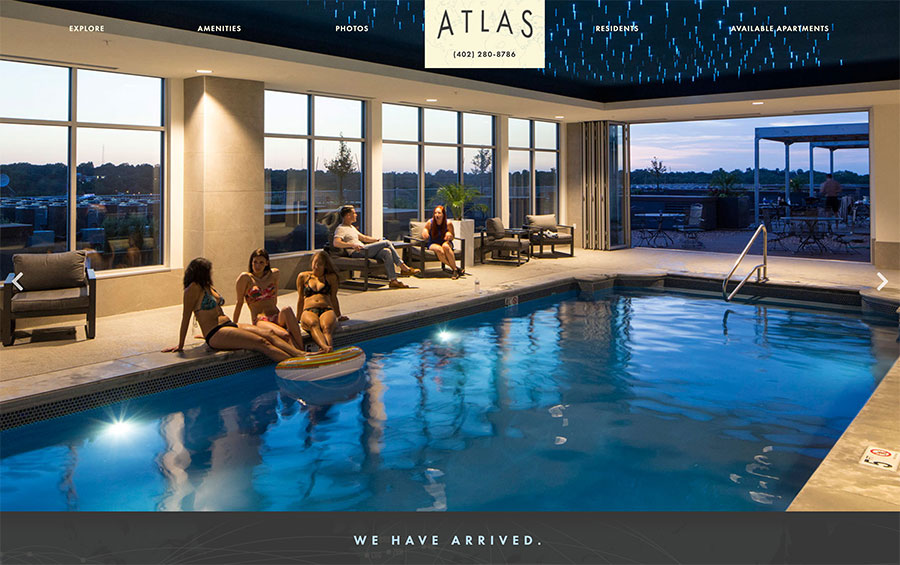 Atlas Omaha Apartments Website Design